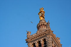 Tower bell of Notre-Dame de la Garde. In Marseille (France royalty free stock photos