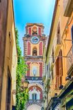Tower bell of Sorrento Cathedral, Italy. Tower bell of the Sorrento Cathedral, Neapolitan Riviera, Italy Stock Images