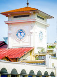 Tower of Ben Thanh market in Saigon royalty free stock images