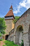 Tower of Biertan medieval church Stock Photography