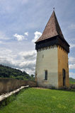 Tower of Biertan medieval church. In Transylvania, Romania Royalty Free Stock Images
