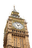 Tower Big Ben on isolated white background Royalty Free Stock Images
