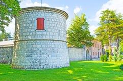 The tower of Biljarda Hall Stock Images