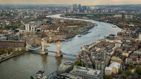 Tower Biridge with river Thames and London skyline Royalty Free Stock Photos