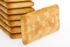 Tower Biscuit. Biscuits, tea and milk with good eatable. Standing in a sequential manner and biscuits Stock Photos