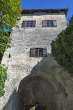 Tower of Bled Castle, Slovenia Royalty Free Stock Image