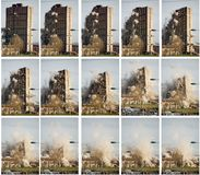 Tower block demolition