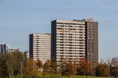Tower blocks on the Carpenters Estate , East London royalty free stock photos