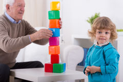 Tower of blocks Royalty Free Stock Photography