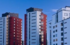 Tower blocks in twilight. Modern tower blocks seen in twilight Royalty Free Stock Photos