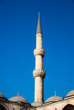 Tower of Blue Mosque Stock Photography