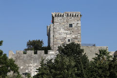 Tower of Bodrum Castle in Turkey Royalty Free Stock Photos