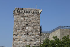 Tower of Bodrum Castle in Turkey Royalty Free Stock Photo
