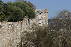 Tower of Bodrum Castle in Turkey Royalty Free Stock Images
