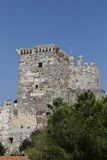 Tower of Bodrum Castle in Turkey Royalty Free Stock Photography