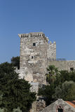 Tower of Bodrum Castle in Turkey Royalty Free Stock Image
