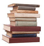 Tower books. On white background arranged in stack royalty free stock photos