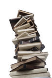 Tower of books. Stack of books isolated on white background Royalty Free Stock Images
