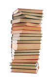 Tower of books. On a white background Stock Photos