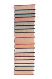 Tower of books. On a white background Royalty Free Stock Image