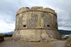 Tower in Bosa village Sardinia Italy Royalty Free Stock Photos