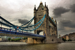 Tower Bridge. In London City stock photography