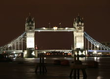 Tower Bridge. In the night Stock Photos