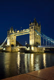 Tower Bridge. From the North Bank at dusk, London, UK Royalty Free Stock Photo