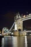 Tower Bridge. At night, London, UK Stock Photography