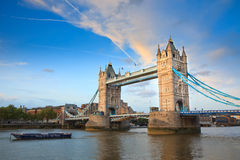 Tower Bridge. View on Tower Bridge from the North Bank, London, UK Stock Photography