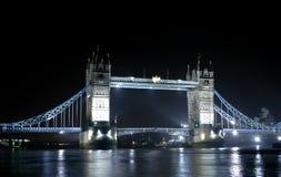 Tower Bridge. The Tower bridge in London at night Royalty Free Stock Photo