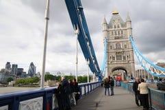 Tower Bridge. London panorama including Tower Bridge Stock Image