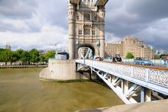 Tower Bridge. London panorama including Tower Bridge Stock Photo