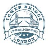 Tower Bridge. Grunge rubber stamp with London, Tower Bridge inside Stock Photo