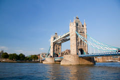Tower Bridge. With Olympic Rings LIfted Royalty Free Stock Images