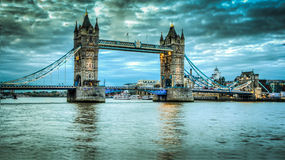 Tower bridge. At sunrise HDR Stock Images