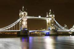 Tower bridge. Night time photography Stock Image