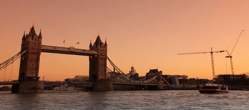 Tower bridge at sunset Stock Photography