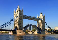 Tower bridge 4. Tower bridge in London with its bascules in the open position Royalty Free Stock Photography