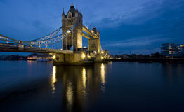 Tower bridge. At sunset, london england black and white Stock Image