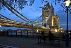 Tower bridge. At sunset, london england Royalty Free Stock Image