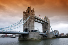 Tower Bridge. The historic Tower bridge in London, United Kingdom Royalty Free Stock Images