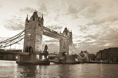 Tower Bridge. And River Thames by night royalty free stock photo