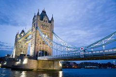 Tower Bridge. And River Thames by night Stock Images