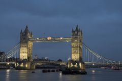 Tower Bridge #7 Royalty Free Stock Photography