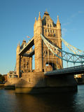 Tower Bridge. London's iconic tower bridge, bathed in afternoon sunshine royalty free stock photography