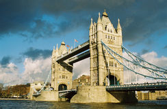 Tower bridge. Over thames in london Stock Images