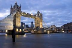 Tower Bridge. Night shot of Tower Bridge, London Stock Photography