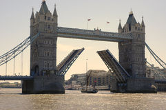 Tower Bridge. London, England, June 2006. Lovely weather, sunny and hot Royalty Free Stock Photos