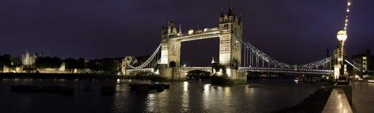 Tower bridge. Panaramic shot of tower bridge in London Royalty Free Stock Image